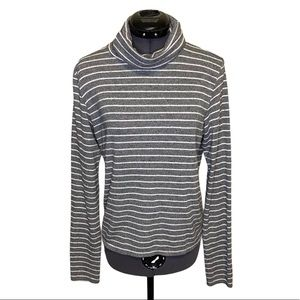 Aerie Soft Pullover Striped Turtleneck Sweater